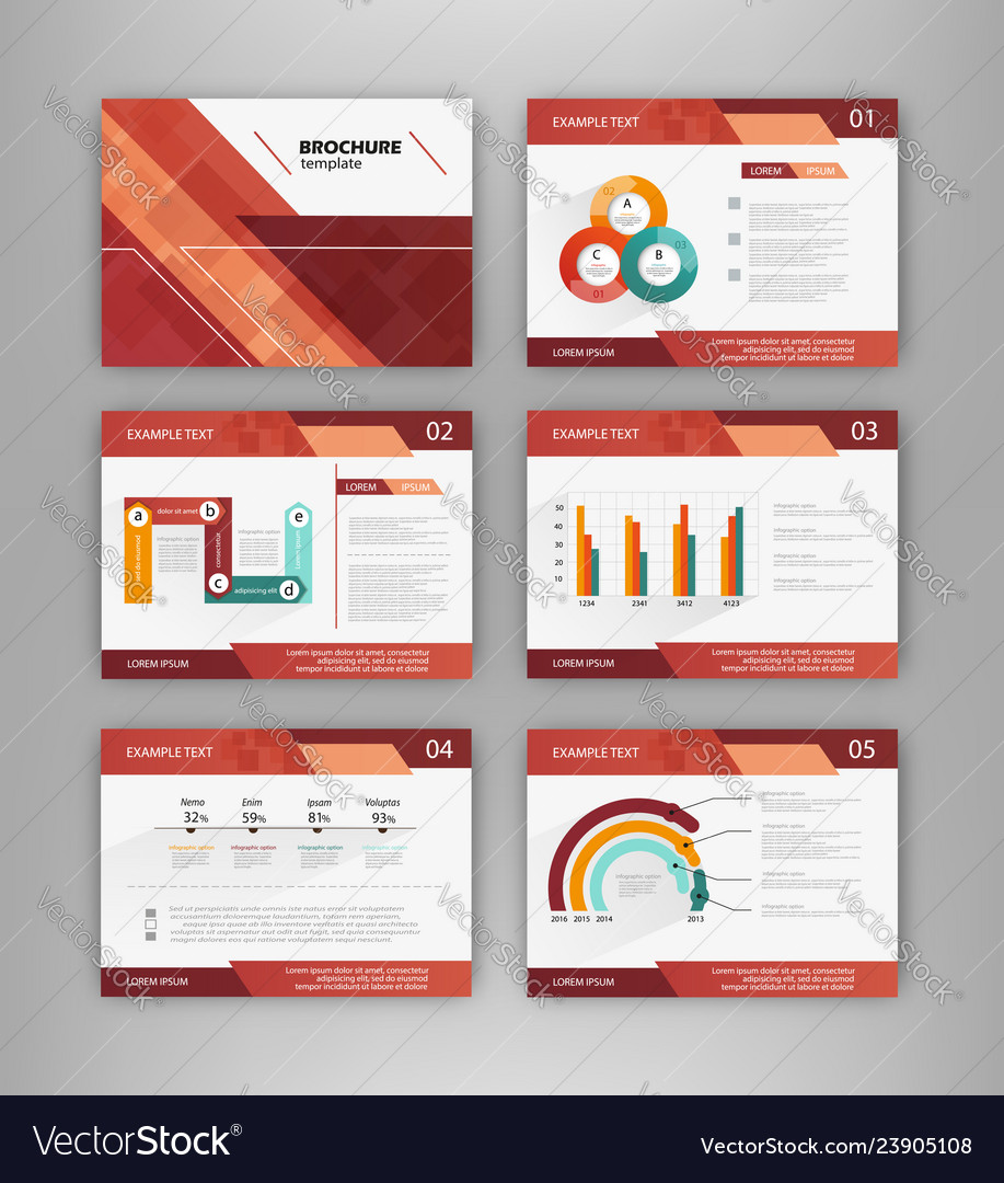 Brochure templates with infographics