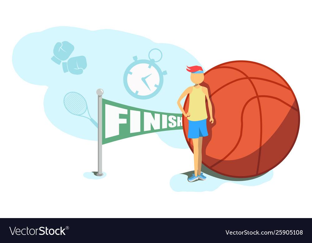 Cartoon basketball player athlete person game