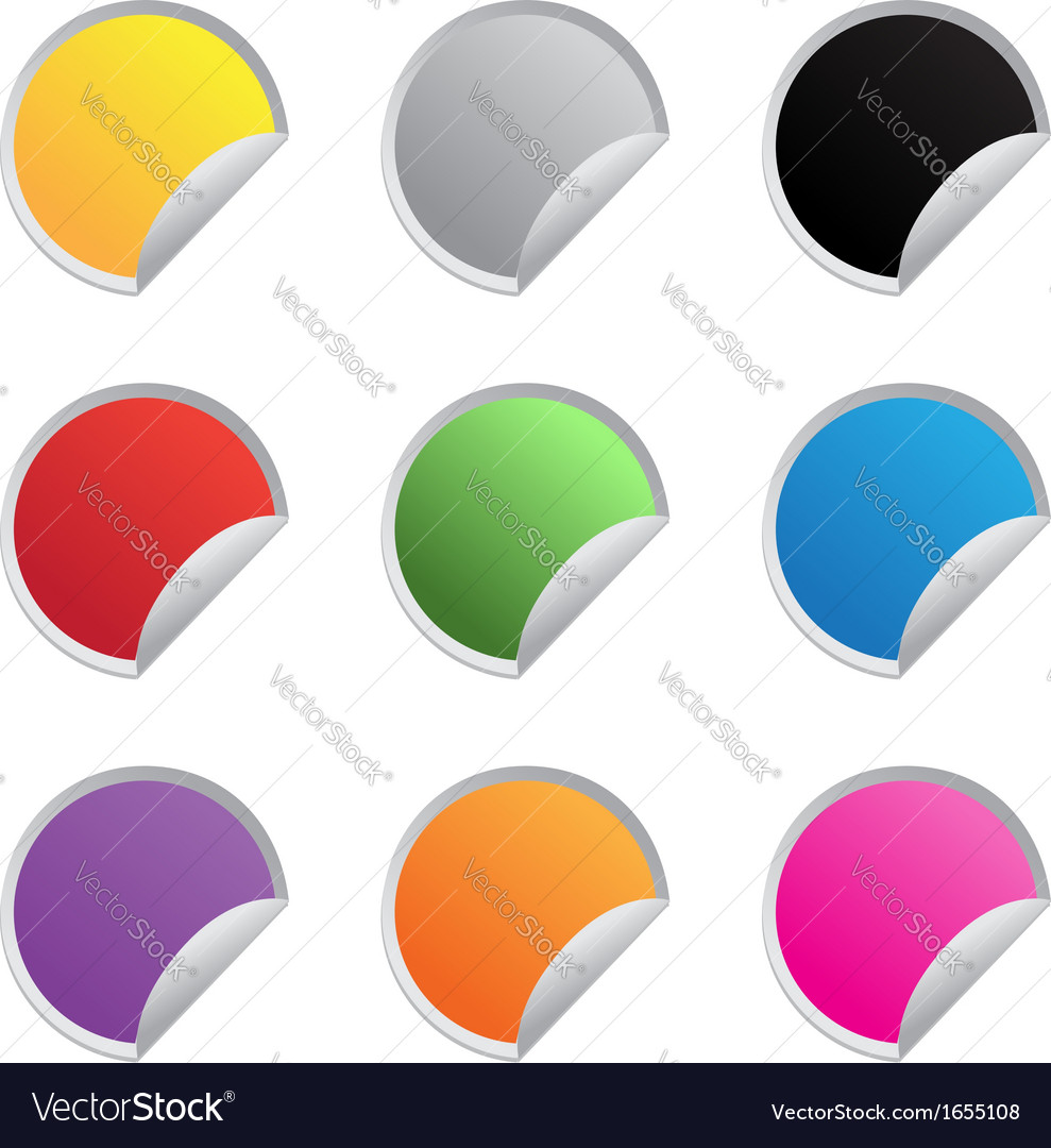 Color glossy stickers
