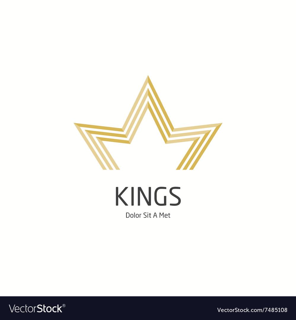 Crown king vector image