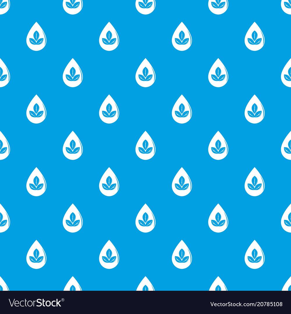 Drop eco pattern seamless blue