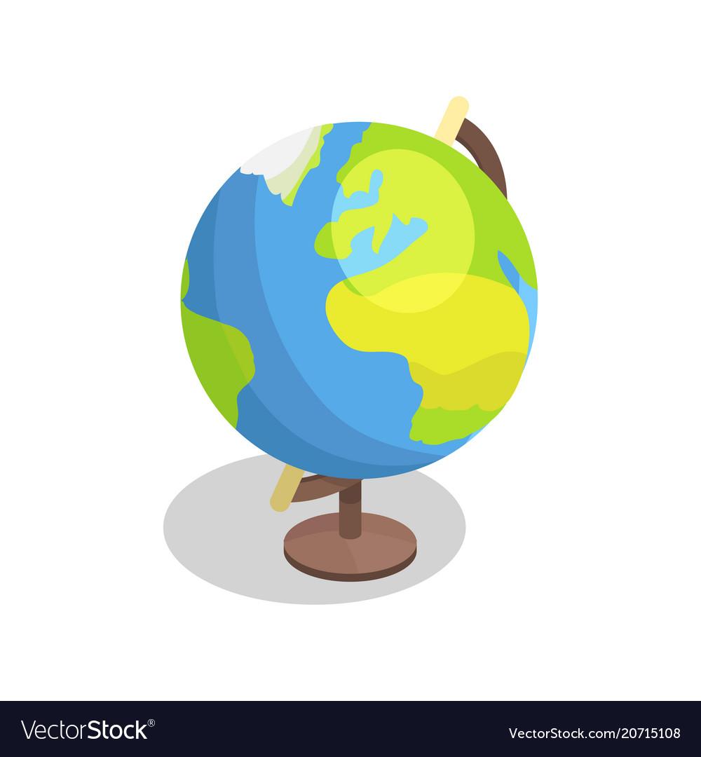 Earth globe model isolated