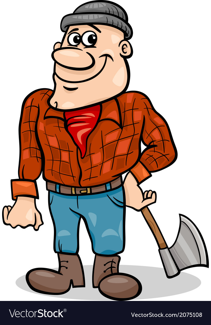 Fairy tale lumberjack cartoon