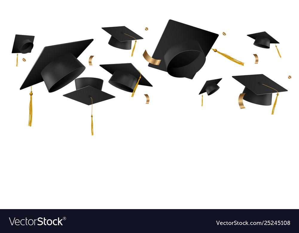 Graduation caps. Photo: VectorStock