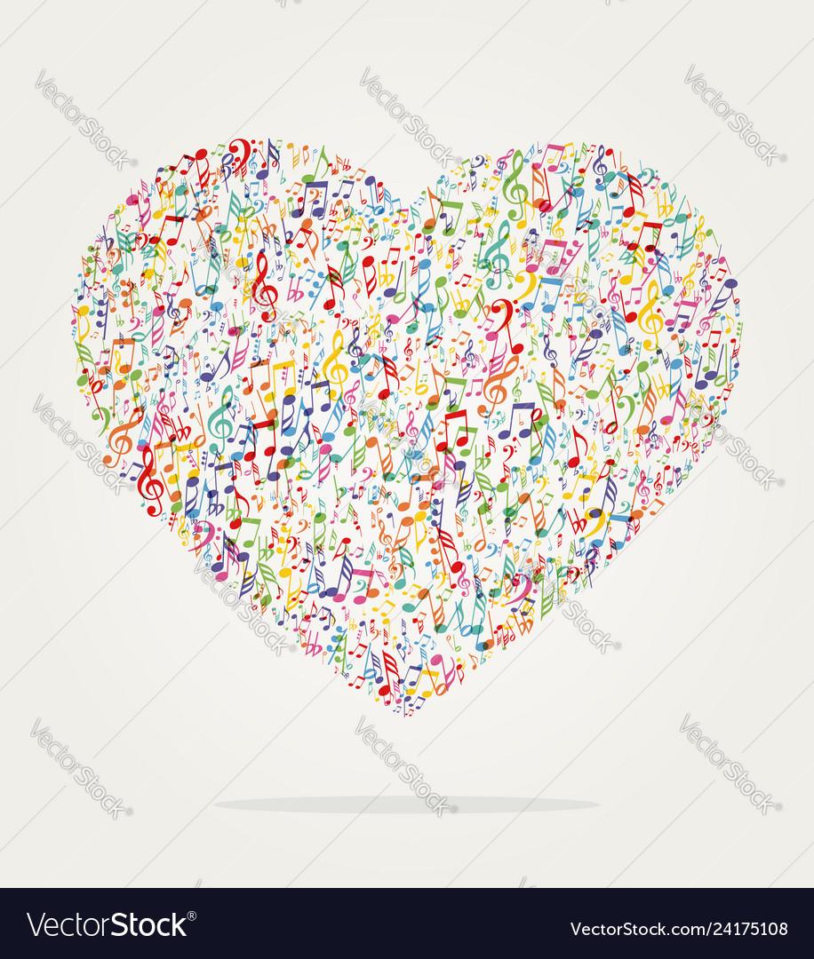Heart shape music color