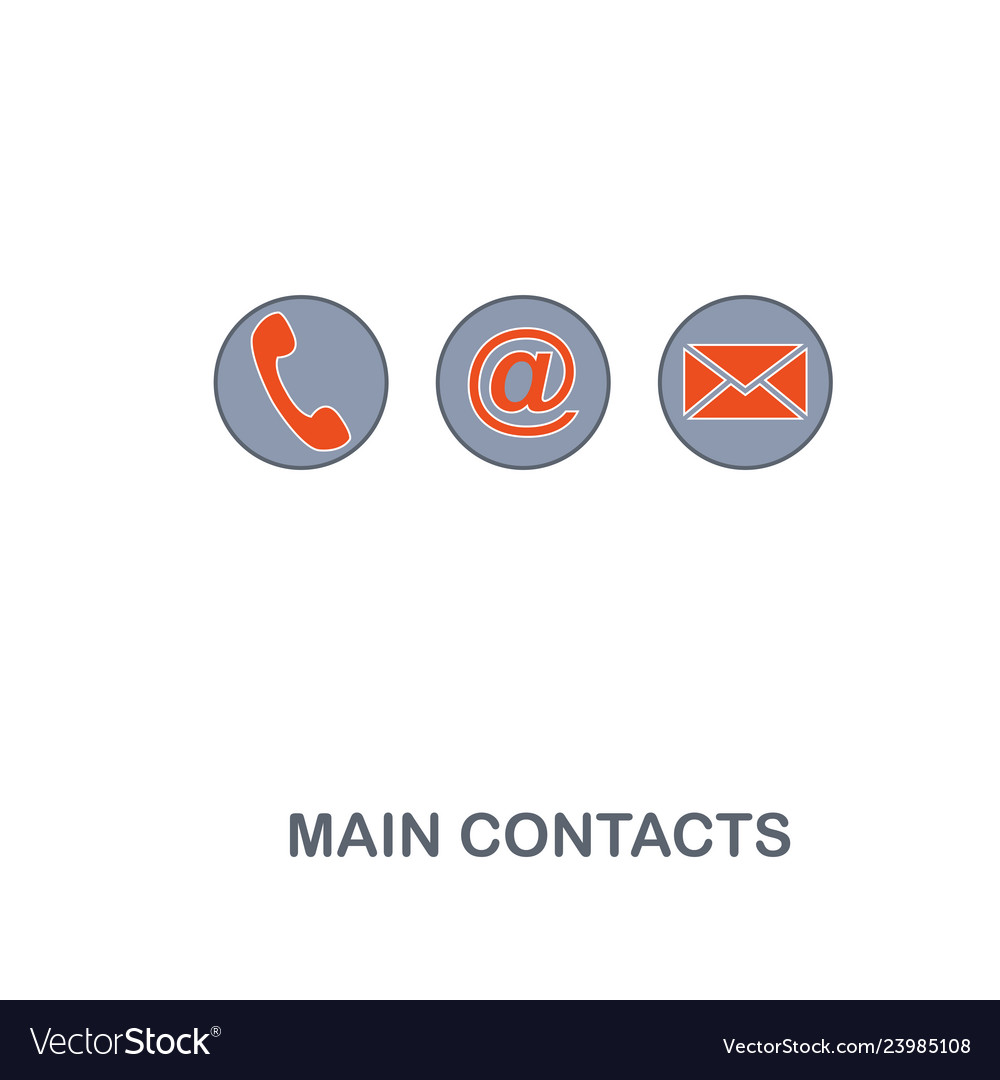 Main contacts icon premium two colors style