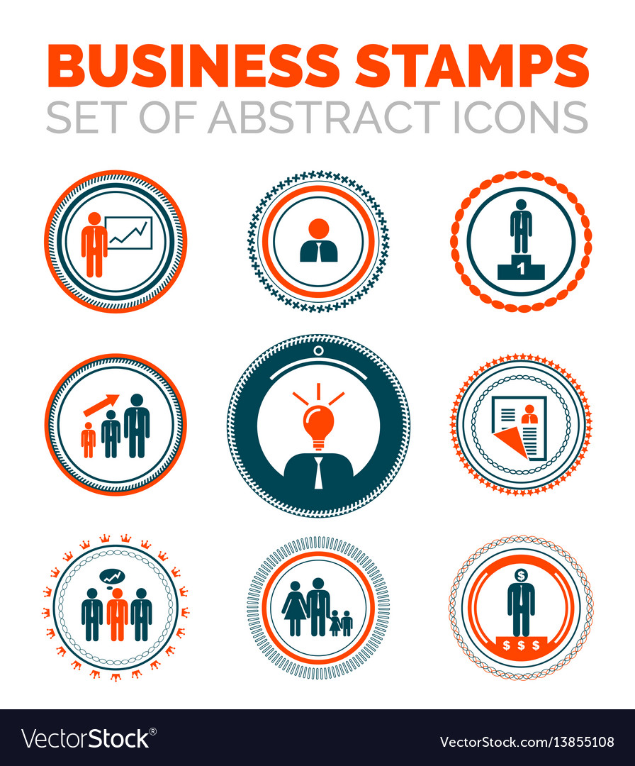 Set of business stamps