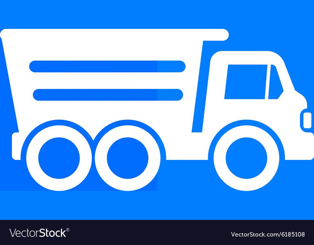 Tipper truck building icon button logo symbol