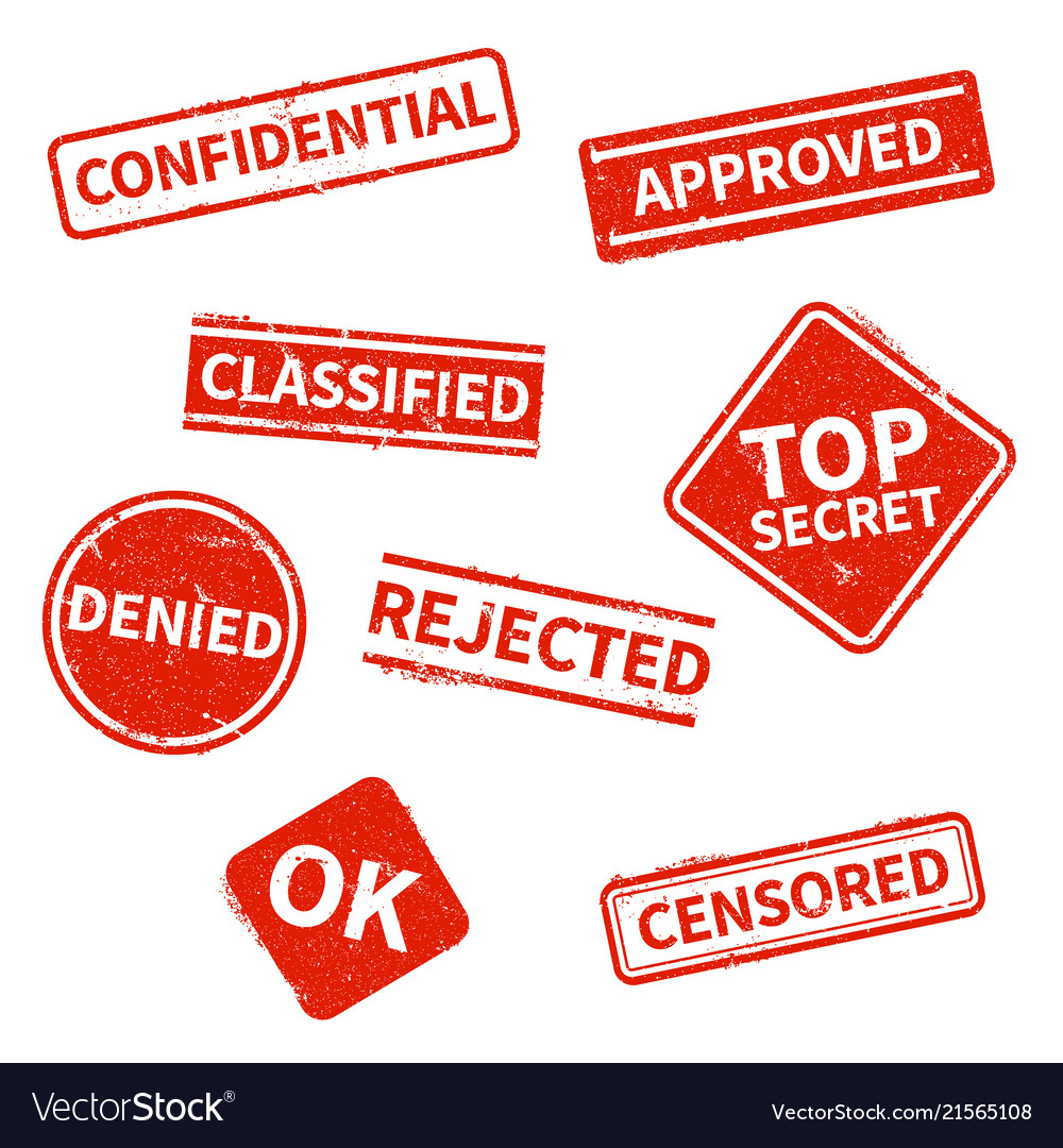 Top secret rejected approved classified