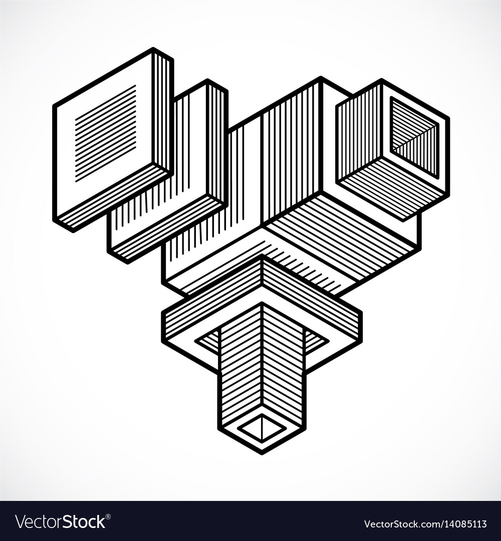 Abstract isometric construction