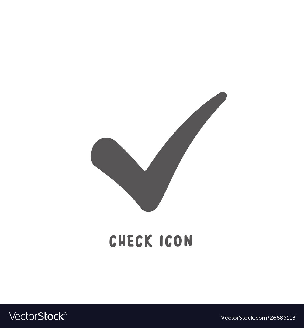 Check icon simple flat style