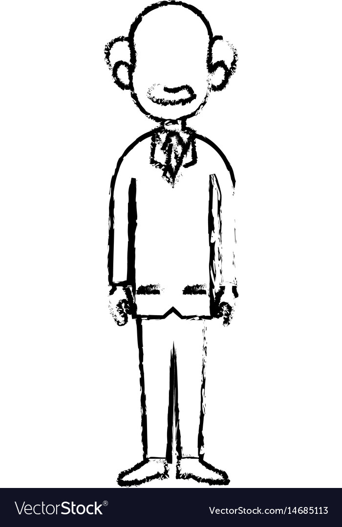 Doctor man professional medical work sketch