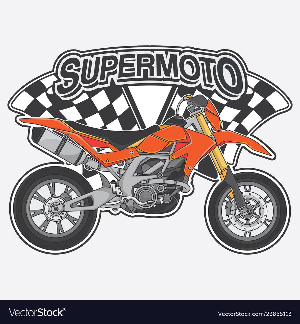 Extreme supermoto design logo concept