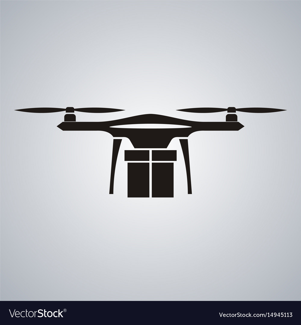 Package delivery drone concept of a drone