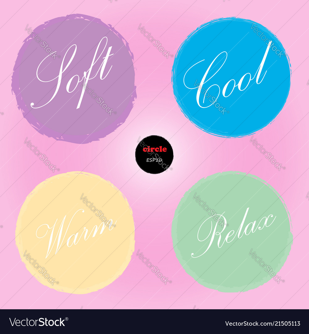 Set of 4 circles design elements for background