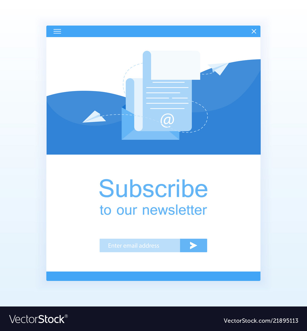 Subscribe to newsletter open message