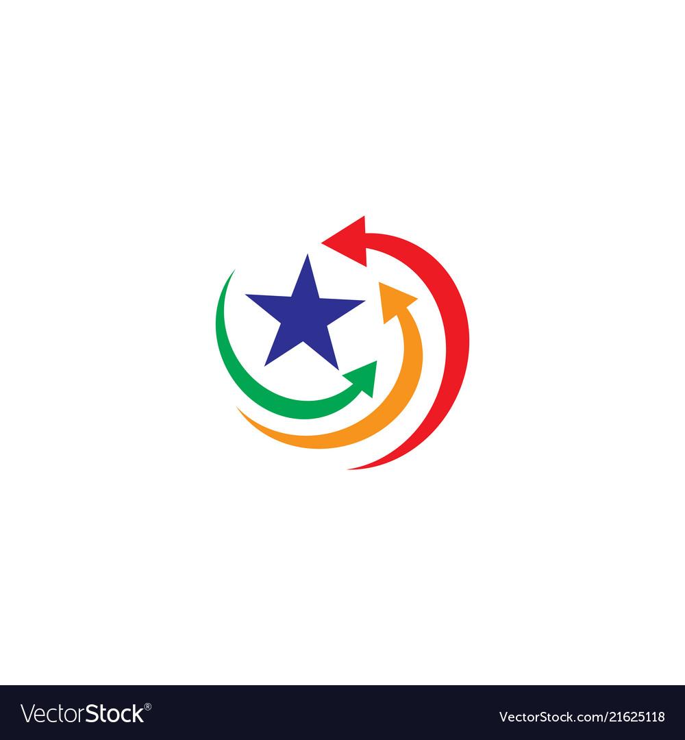 Arrow star business logo