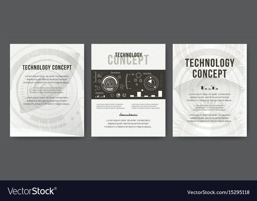 Business template brochure design cover modern