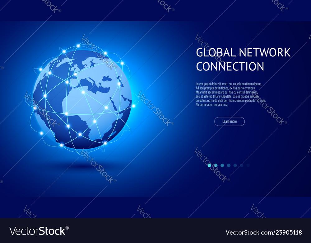 Global network connection concept best internet
