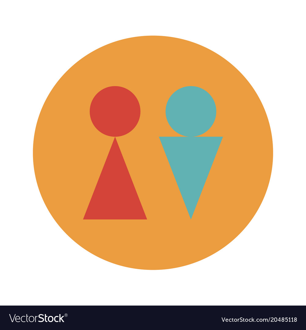 Man and woman toilet sign flat icon