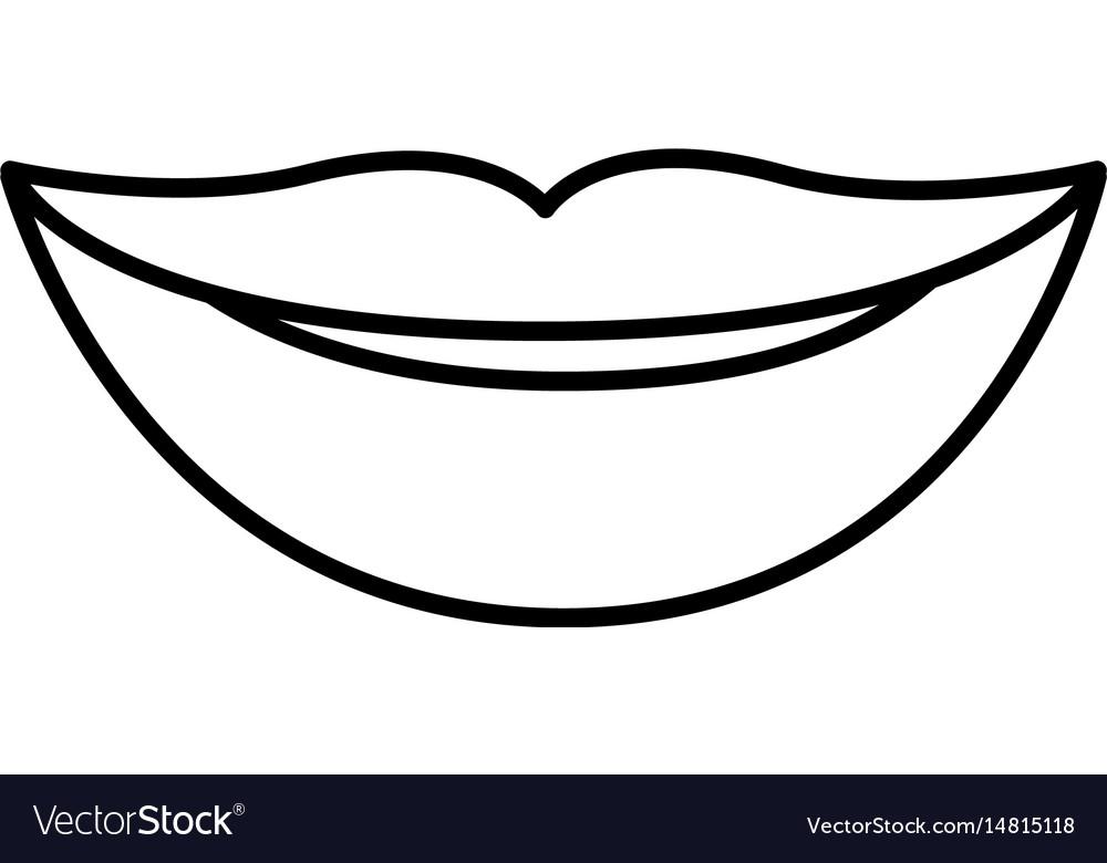 Картинка раскраска губы