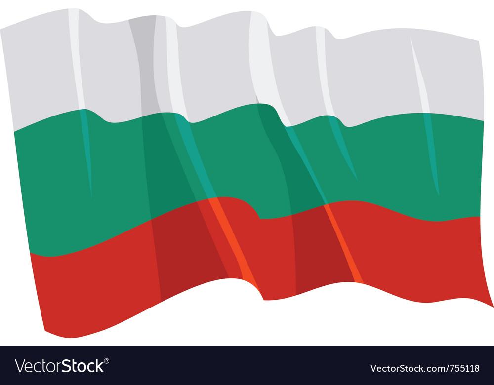 Political waving flag of bulgaria vector image