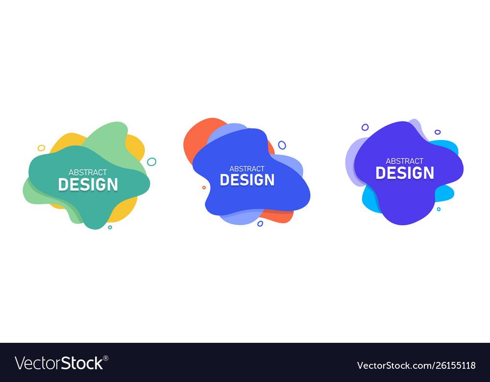 Set modern abstract banners fluid