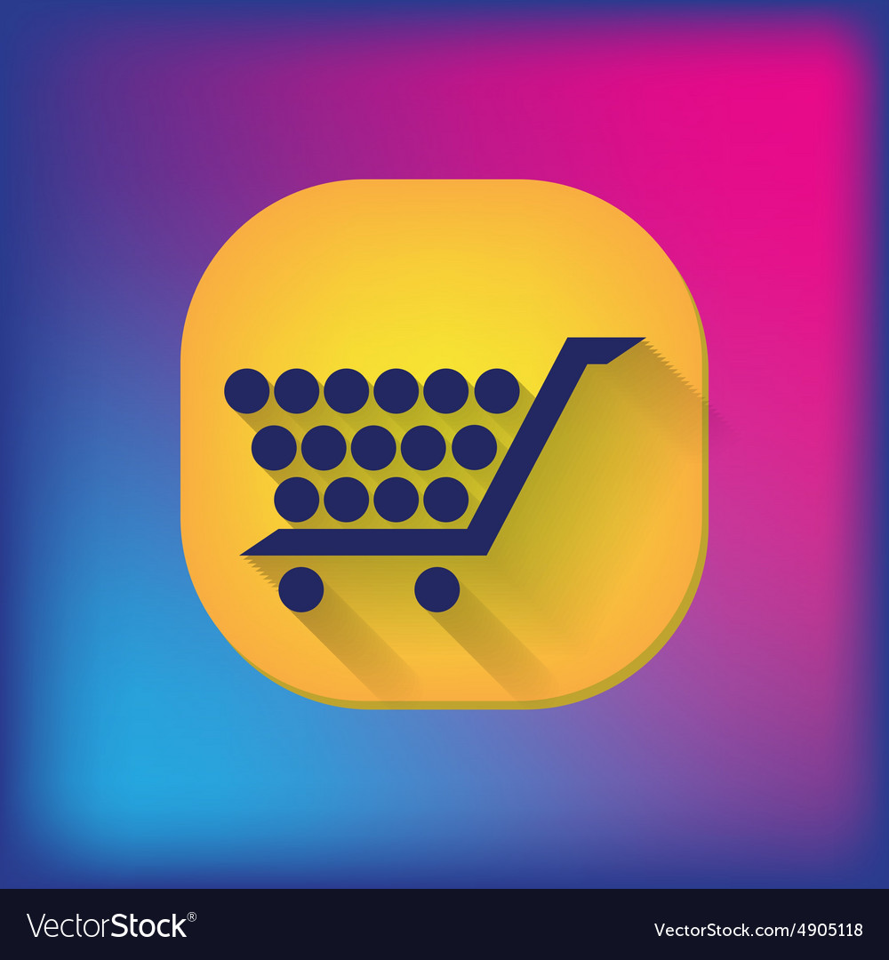Shopping cart icon vextor