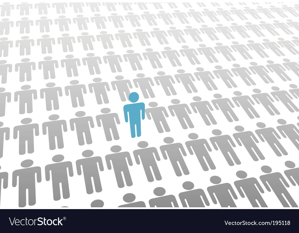 Stand out vector image