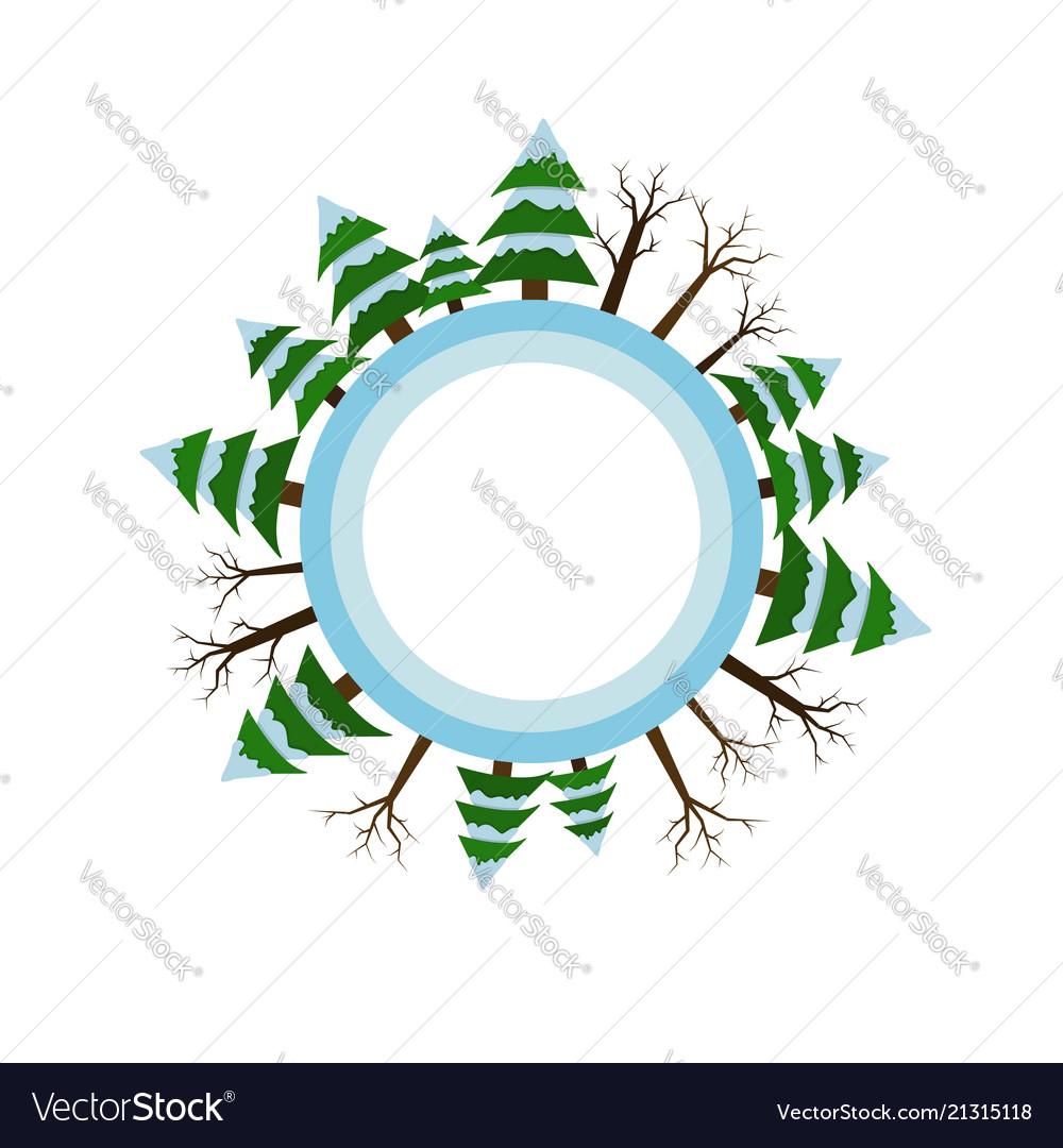 Winter season icon tree