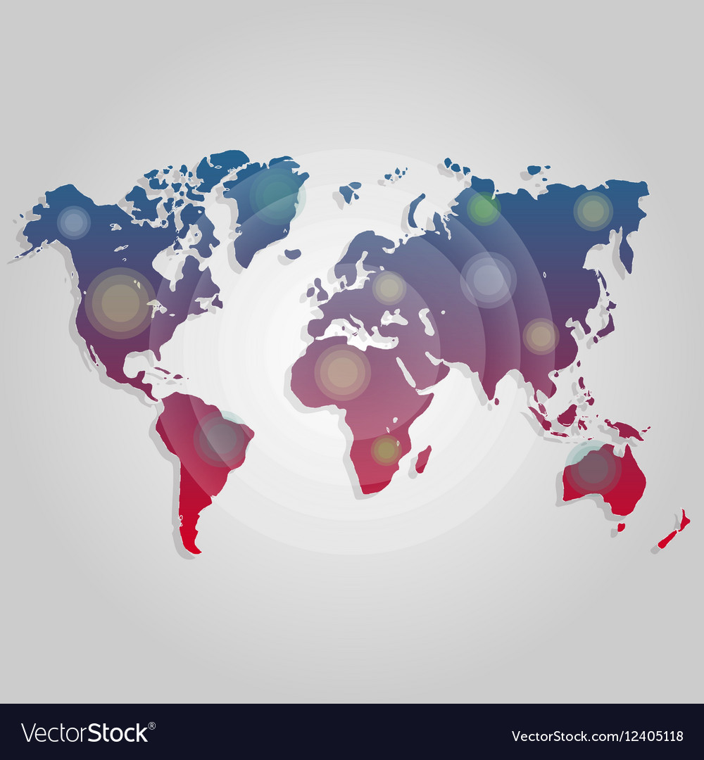 World map connection Worldmap template for