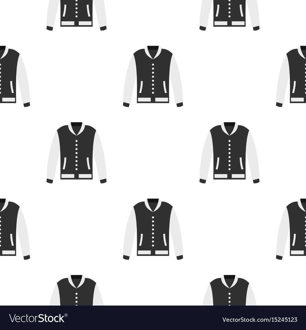 Baseball jacket pattern seamless