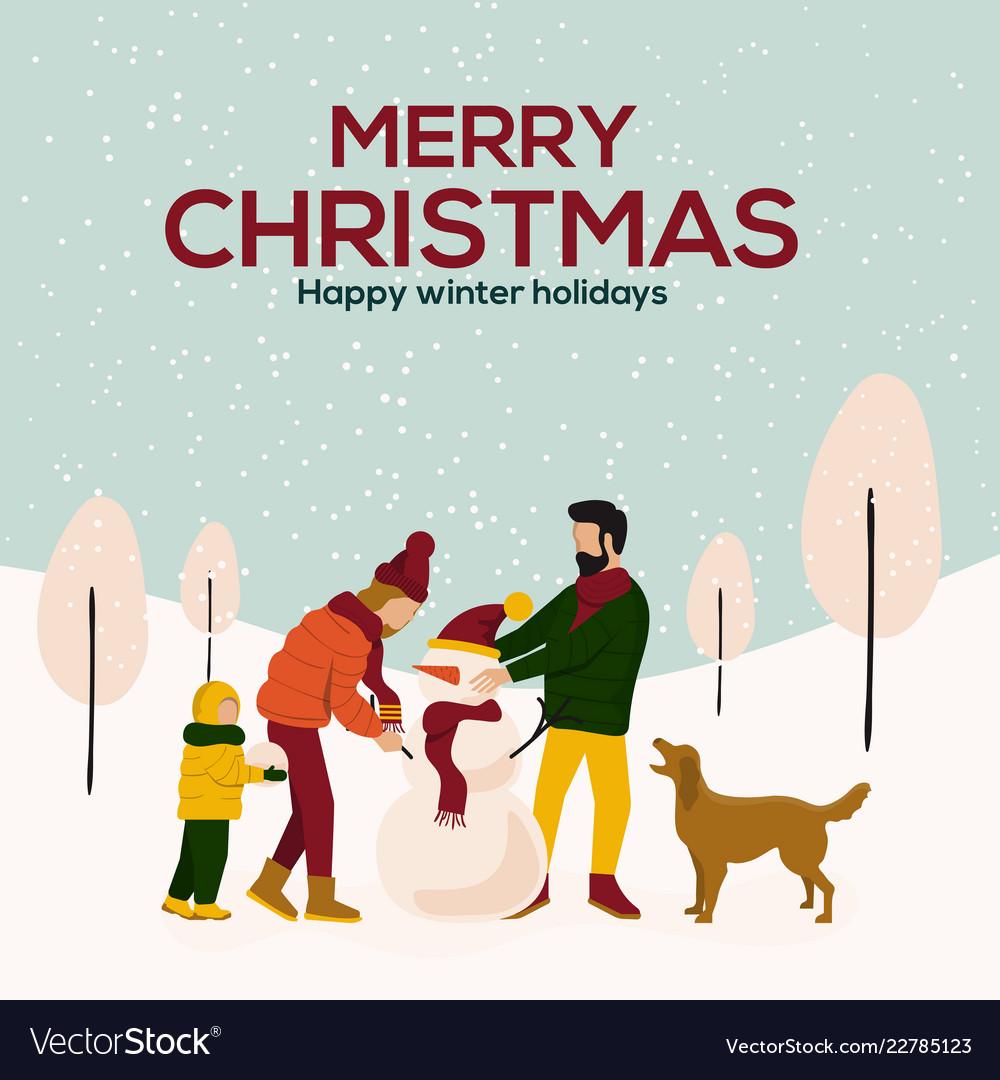 Christmas cards design flat 3