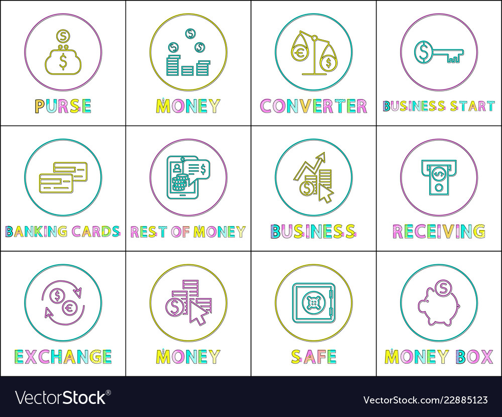 E-commerce and online business linear icons set