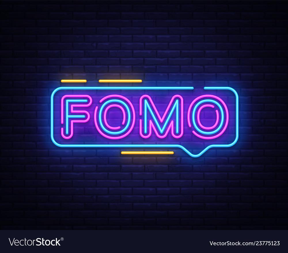 Fomo neon text fomo neon sign design