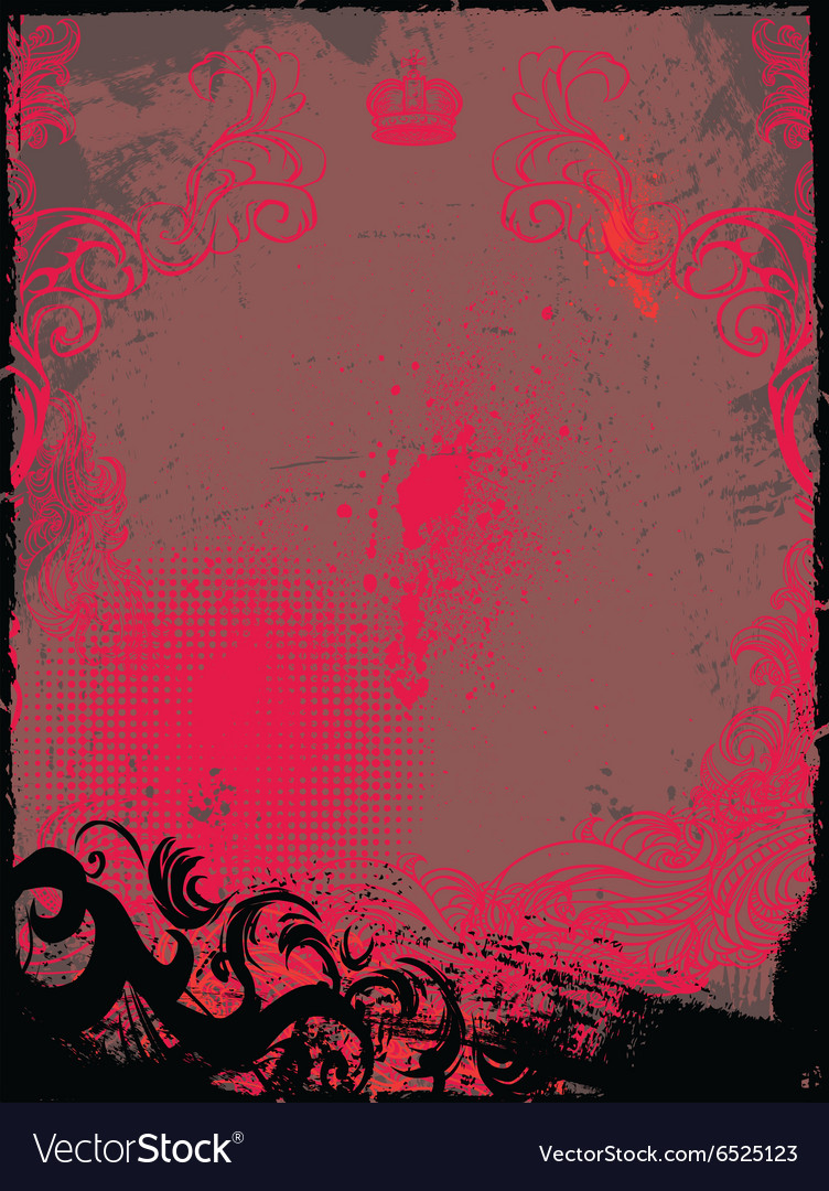 Grunge and Floral Background vector image