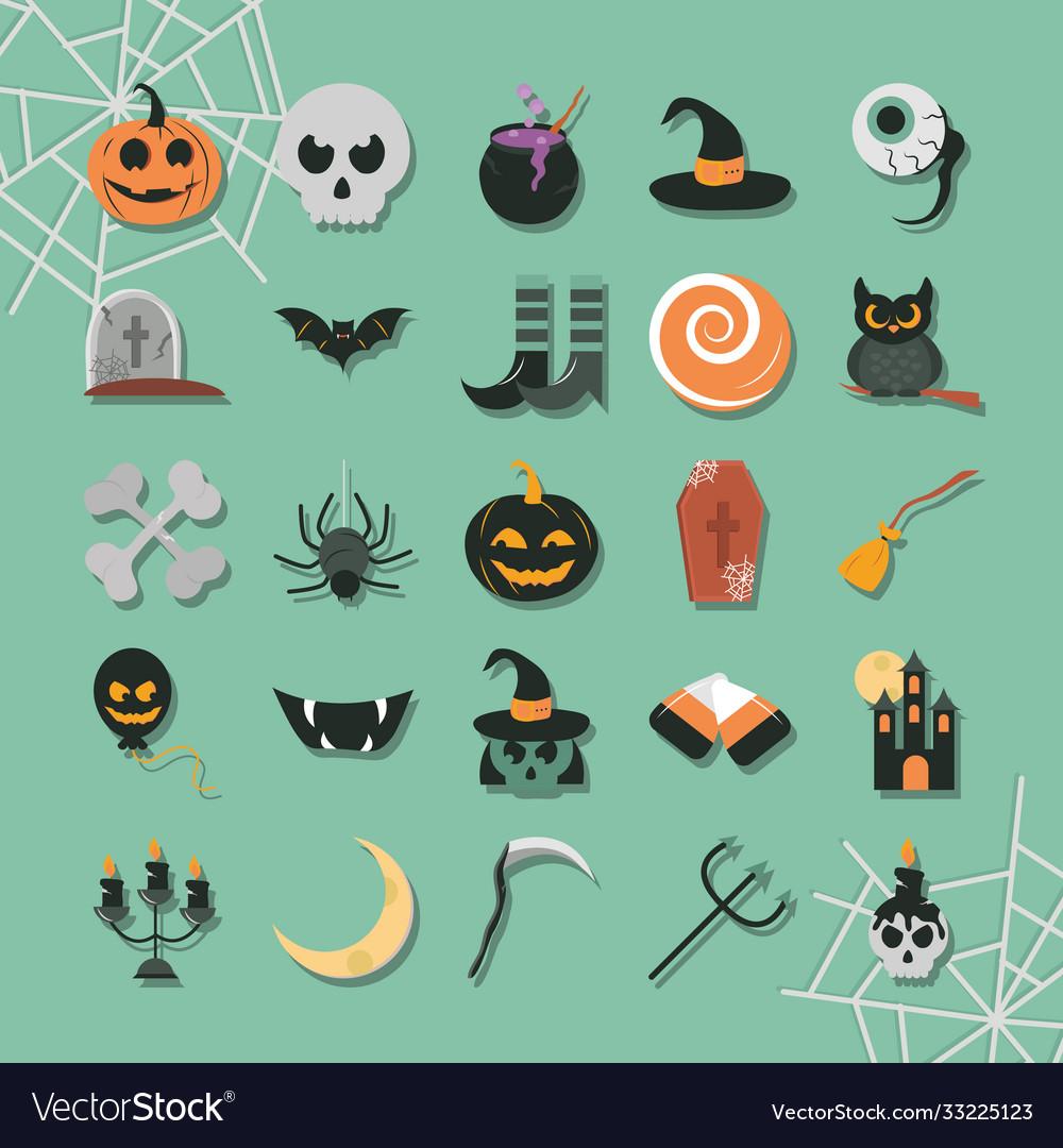 Happy halloween trick or treat party celebration