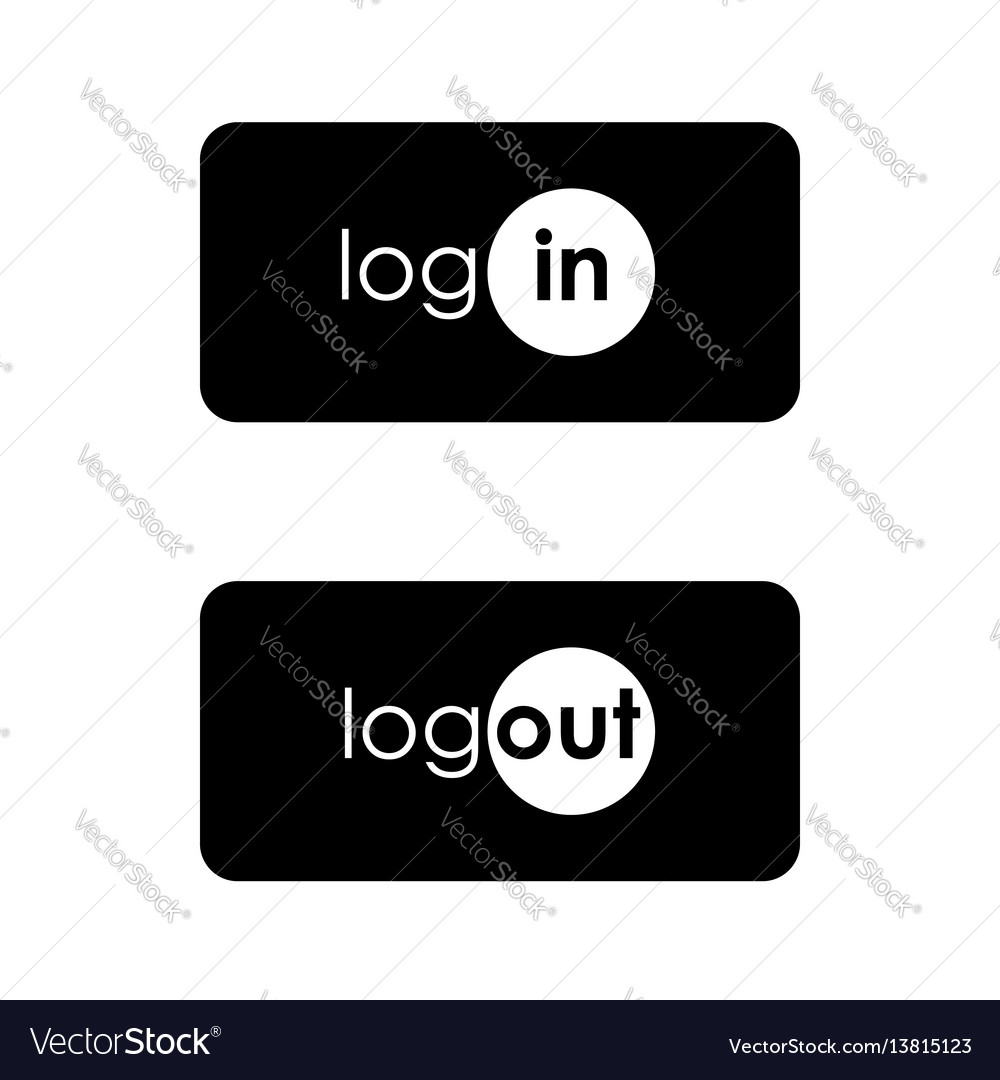 Login icon in text style