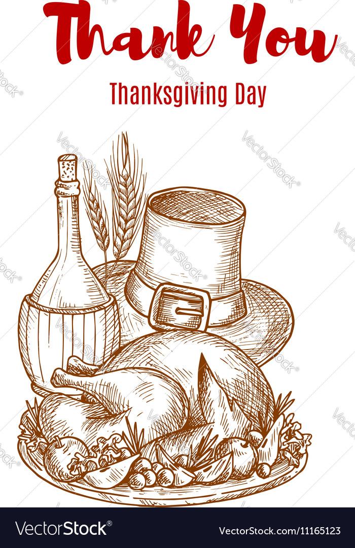 Thank You Thanksgiving greeting card sketch