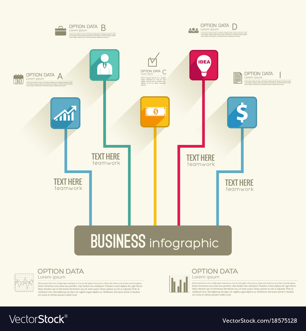 Business infographic workflow concept