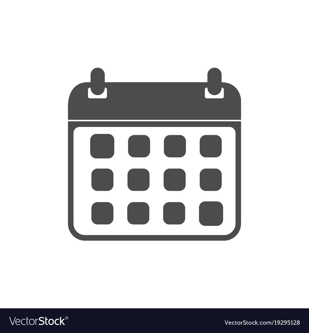 calendar icon flat web mobile icon royalty free vector image rh vectorstock com calendar icon vector cdr calendar icon vector freepik