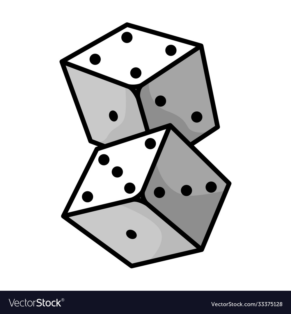 Dice small cubes for game with different number