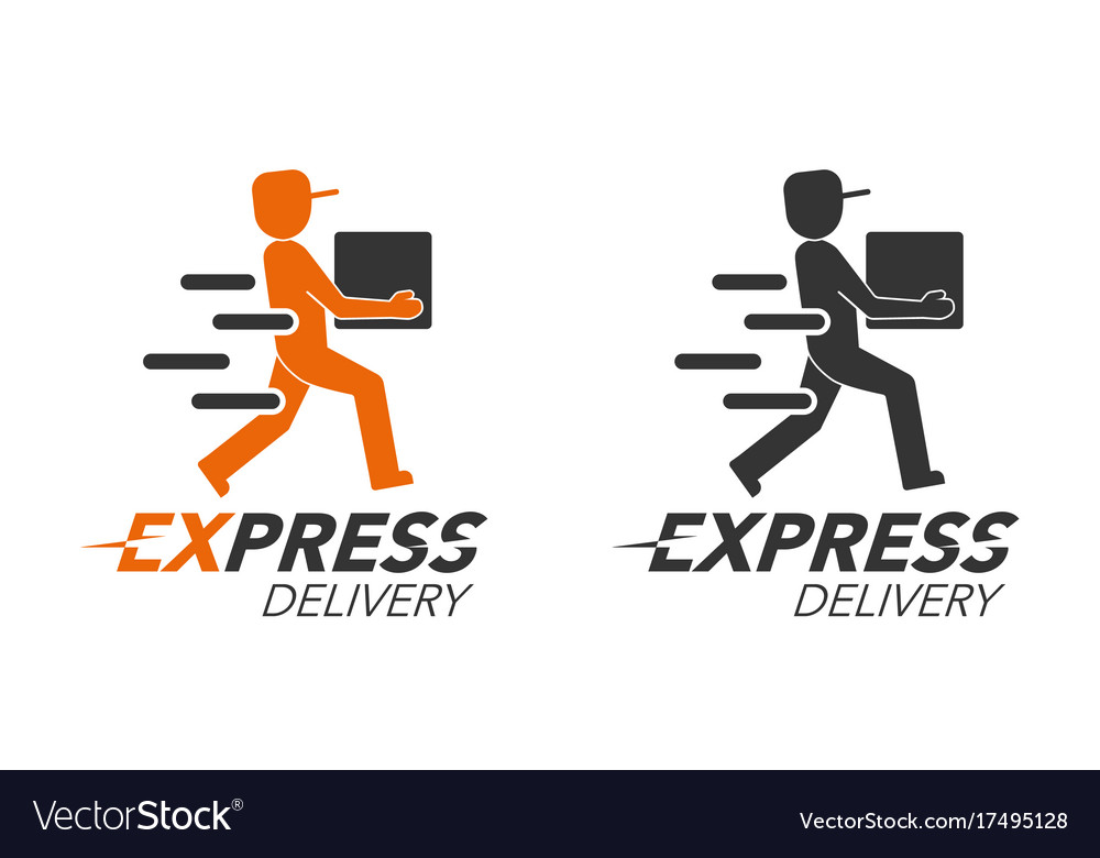 5c954ff35aa17 Express delivery icon concept delivery man Vector Image