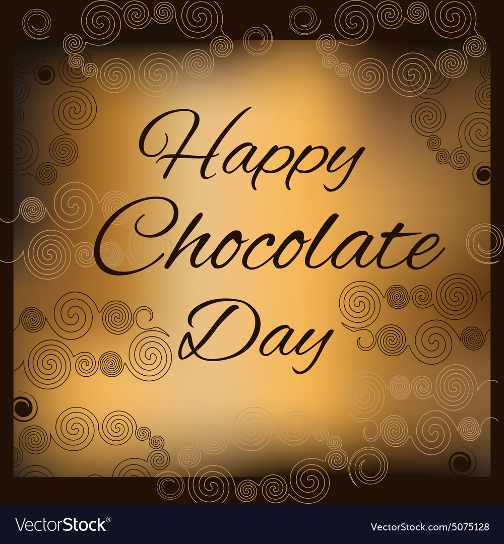 Happy chocolate day vector image