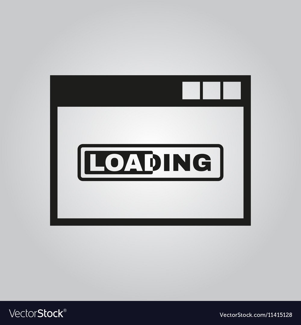 Loading Icon Design Loading Symbol Web Royalty Free Vector