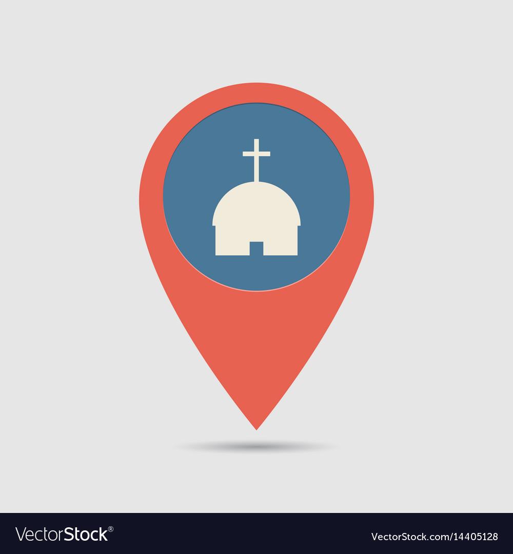 Map pin church