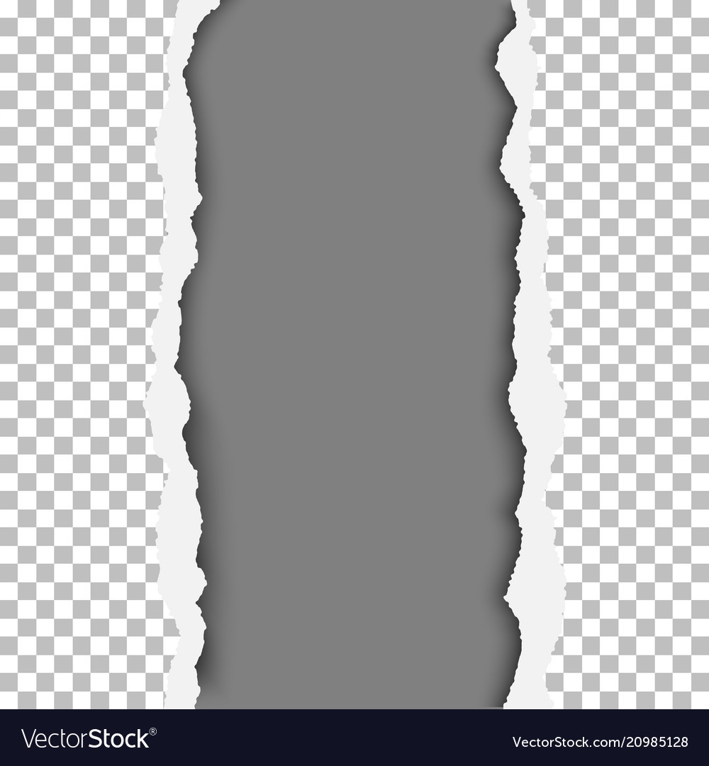 Ragged vertical lane in transparent and checkered vector image