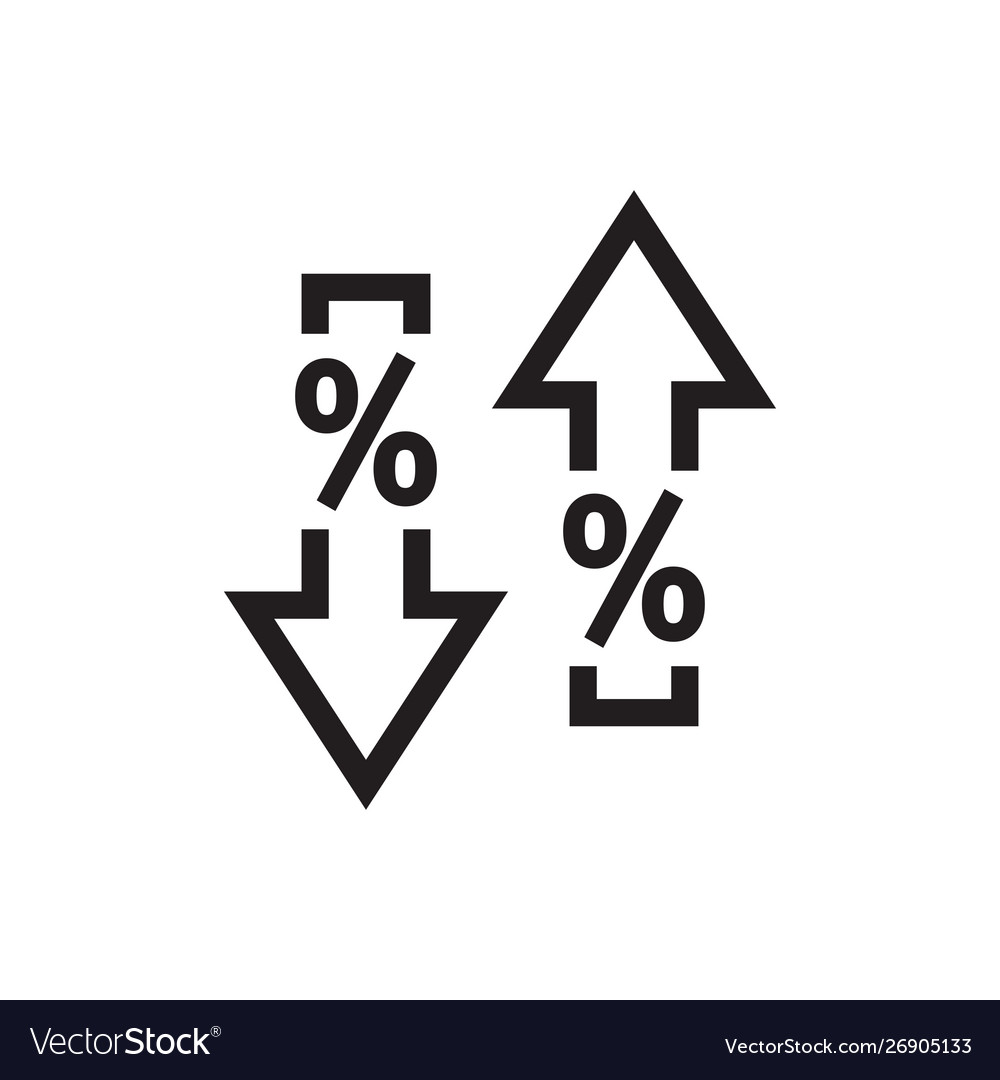 Arrows up down with percent symbol - web black