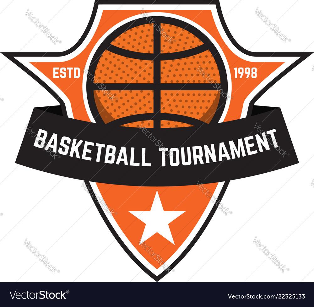 Basketball sport emblems design element