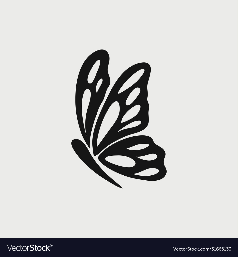 Butterfly icon logo
